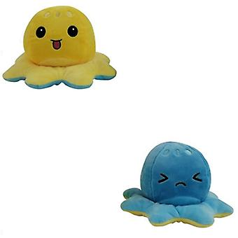 Double-sided, Baby Soft Plush - Reversible Creative Octopus Toy