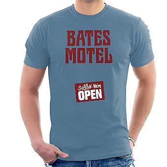 Psycho Bates Motel Sorry We Are Open Men's T-Shirt