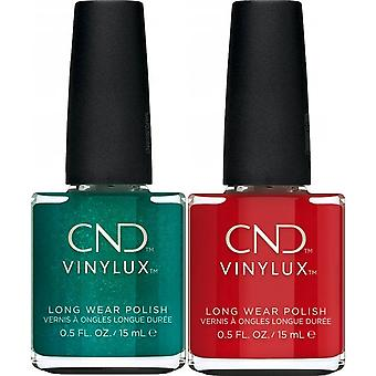 CND vinylux Weekly Nail Polish Duo Set - Devil Red & Shes A Gem (2 X 15ml)