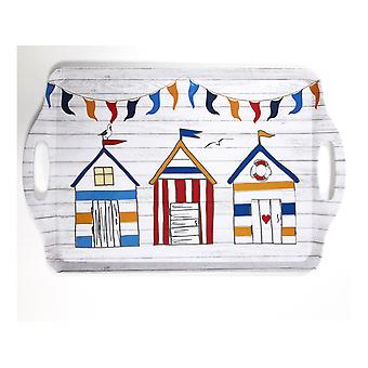 Home Living Tea Tray Summer Beach Huts HH2230