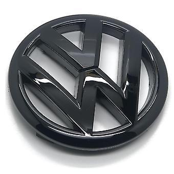 Gloss Black VW Volkswagen Polo 6R Front Grill Bonnet Badge Emblem 120mm Grill GTI TDI TSI R - 2009-2013