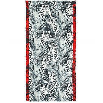 Ahujasons Zebra Print Wool Scarf