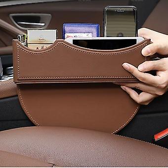 Organizador de bolsillo lateral del asiento del coche de cuero