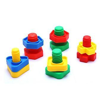 Montessori 3d puslespill spillet skrue byggeklosser for baby