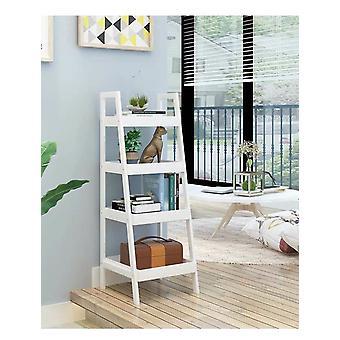 Librería - mesita de noche oblicua - 4 estantes - 100x29x30 cm