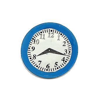 Puppen Haus blaue Küche Wanduhr 01:12 Maßstab Miniatur Zubehör