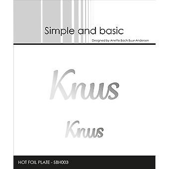 Enkel och grundläggande Knus Hotfoil Stämpel