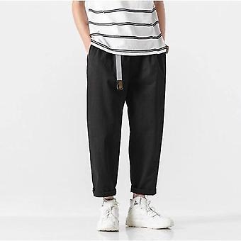 Παντελόνι χαρέμι, ανδρικά streetwear, φαρδιά χαλαρά παντελόνια, παντελόνι μήκους αστραγάλου με ζώνη,