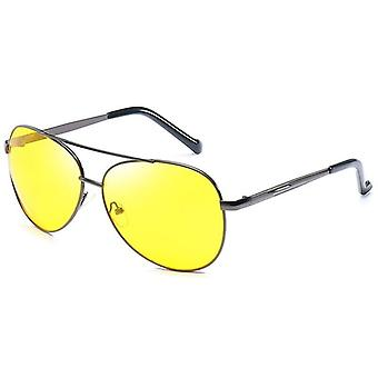 Classic Pilot, Night Vision Glasses, Metal Frame Yellow Lens, Sunglasses, Women