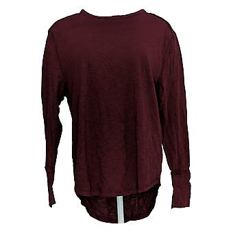 All Worthy Hunter McGrady Women's Top Long-Sleeve Relaxed Purple A384588