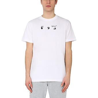 Off-white Omaa027r21jer0090155 Mænd's White Cotton T-shirt