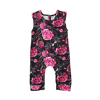 Baby Girl Floral Flower Romper Sleeveless Jumpsuit