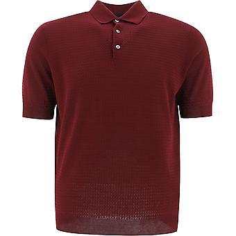Lardini Ellpmc49el56021700 Men's Burgundy Cotton Polo Shirt