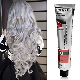 Fashion Smoky Gray Punk Style Nature Permanent Super Hair Dye Cream Beauty Hair