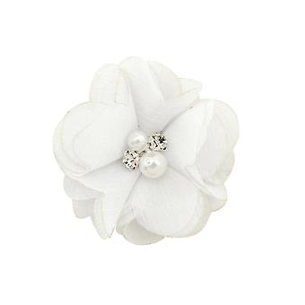 1 Pcs Baby Hair Solid Chiffon Flower Clips