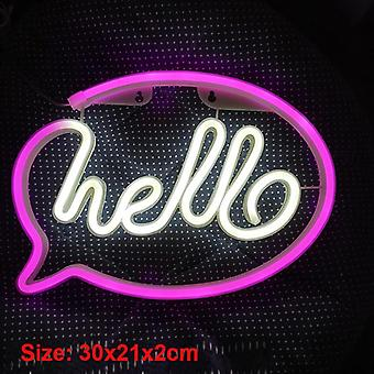 Led Wall Lights Store Greeting Signs Home Decor Night Lamp Party Wedding Window