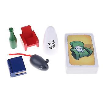 لعبة بطاقة الأسرة لعبة Geistes الغارة 1 +2 +3 شبح الغارة Geistesblitz 5 فور 12