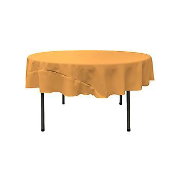 La Lino Poliéster Poplin Mantel 72 pulgadas redondo, oro