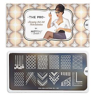 MoYou London Nail Art Image Plate - Pro Xl 02 (692512)