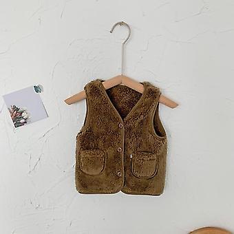Winter Baby Vest, Kids Clothes, Fleece Vest, Clothing Sleeveless Coats,
