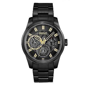 HUGO 1530192 Skeleton Gold & Black Men's Watch