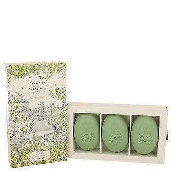 Lily Of The Valley (woods Of Windsor) Three 2.1 oz Luxury Soaps By Woods Of Windsor 2.1 oz Three 2.1 oz Luxury Soaps