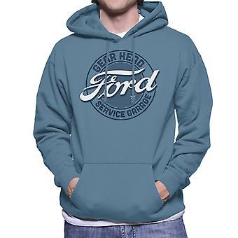 Ford Gear Head Service Garage Men's Hooded Sweatshirt