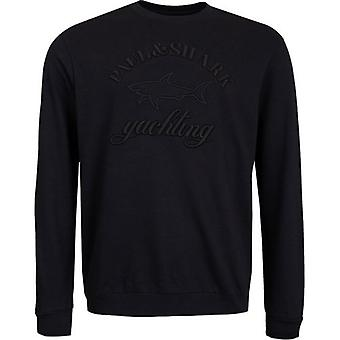 Paul And Shark Embroidered Logo Crew Neck Sweat