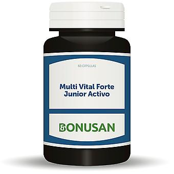 Bonusan Multi Vital Forte Junior Activo 60 Cápsulas Vegetarianas