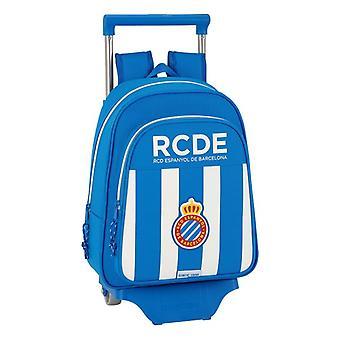 School Rucksack with Wheels 705 RCD Espanyol Blue White