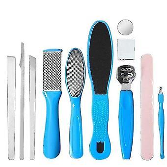 11Pcs/set voet pedicure tool exfoliëren voorkomen dode huid manicure set voor voet huidverzorging nagelriem kit remover
