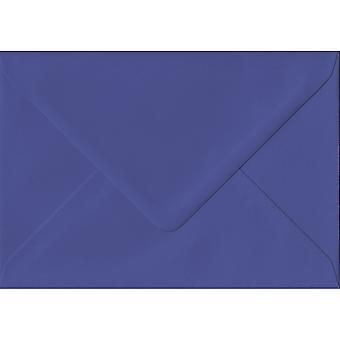 Intense Iris Gummed A5 Blue Envelopes. 135gsm GF Smith Paper. 152mm x 216mm. Banker Style Envelope.