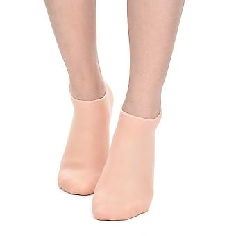 1 paar voeten verzorging sokken 3 grootte hydraterende siliconen gel hiel sokken handschoenen huidverzorging voetbeschermers anti kraken spa thuisgebruik