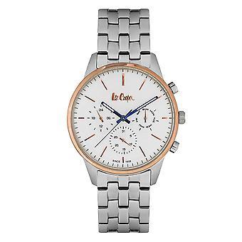 Mäns Watch Lee Cooper vit urtavla Mat - LC06505.530