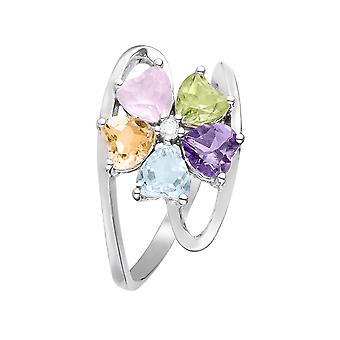 Bague 'Color Explosion' Or blanc et Diamants