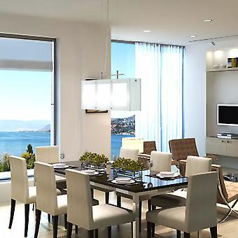 قلادة مصباح معلق مصباح غرفة الطعام مصباح الطعام طاولة مصباح زجاجي 3 × E14