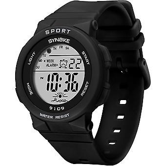 Zegarki zespołu, wodoodporny cyfrowy elektroniczny kid student styl sportowy, luminous