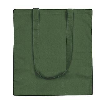 eBuyGB - Canvas shopping bag and beach, 10 pieces, 42 cm, Green (Green) - 1205809-10a