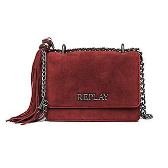 REPLAY FW3001، حقيبة حقيبة نسائية، 260 أحمر الدم، UNIC