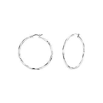Amor - Women's hoop earrings, in silver 925, 42 mm