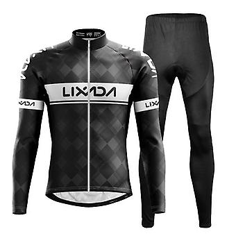Cycling Clothing Set Windproof Long Sleeve Bicycle Jersey Jacket 3D Padded Pants Outdoor Cycling Running Sports Jacket Activewear Sportswear