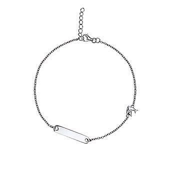 Gaia - Dolphin I.D Icons Bracelet - Prolongateur 16cm + 2cm - Argent - Cadeaux bijoux pour femmes de Lu Bella