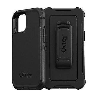 Otterbox Defender -kotelo iphone 12: lle ja iphone 12 Pro Mustalle