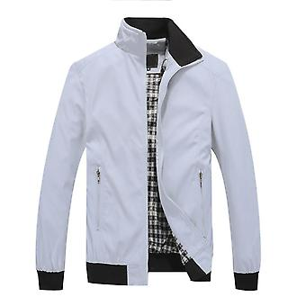 Mile Men's Solid Color Stand Collar Jacket Casual Slim Top Coat Six Colors