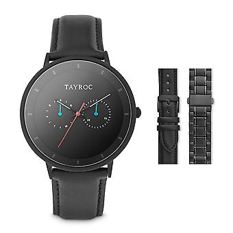 Tayroc holte 42mm multi function sports watch black/black