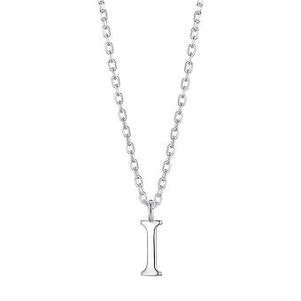 Sterling silver initial i necklace