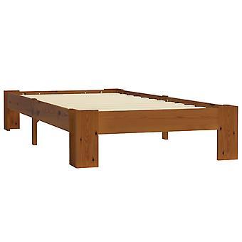 vidaXL sängyn runko vaaleanruskea massiivipuu mänty 90×200 cm