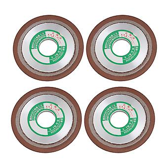 4PCS PDX Single Bevel Grinding Wheel for Processing 180# 125x10x32mm S1