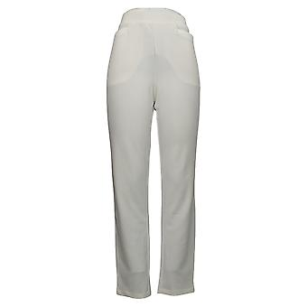 Antthony Women's Pants Crystal Couture Sparkle Knit Boss Lady White 726478