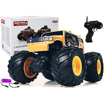 RC monster truck - mașină de teren fără șofer - 2.4 Ghz 1:18 - galben